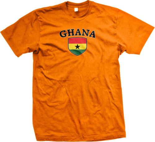 Ghana Flag Crest Ghananian National Soccer Football Pride Mens T-shirt