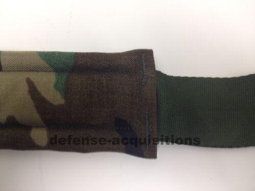 Set of 2 Military Tactical Padded Sling Shoulder Strap Woodland Camo HK Clips US