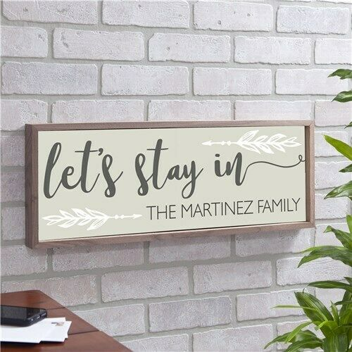 Personalized  Let's Stay In  Wall Decor - High Quality  FREE SHIPPING