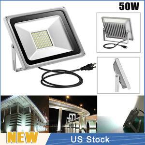 10W LED Flood Light Cool White W// US Plug Landscape Lamp Spotlight Corridor Yard