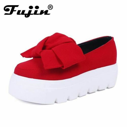 Details about  /fujin 2017 Autumn spring  moccasin womens flats Fashion creepers shoes Bow lady