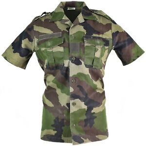 official store wide varieties quality products Details about Original French army F2 shirt woodland camo CCE short sleeves  Shirts