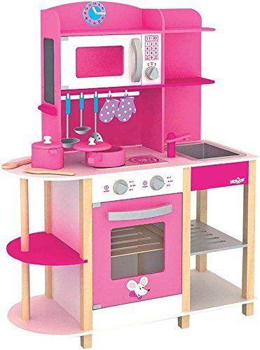 Woodyland 91311 - Cucina giocattolo Trendy Deluxe con molti accessori in  g7m