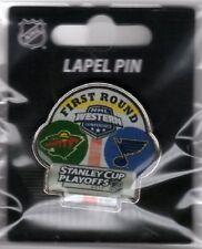 2017 NHL PLAYOFFS PIN DUELING TEAM 1ST ROUND ST. LOUIS BLUES VS. MINNESOTA WILD