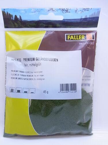 Lot 44205FALLER HO 171410 Terrain Flocons finement vert moyen 12 g neuf dans neuf dans sa boîte