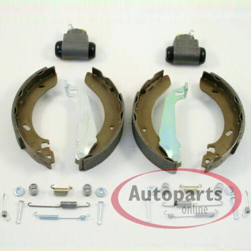 Bremsscheiben Beläge vorne Bremstrommel Set für hinten Renault Twingo mit ABS