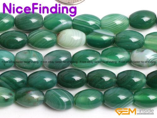 "Natural Olivary Smooth Sardonyx Rice Agate Beads For Jewelry Making Gemstone 15/"""