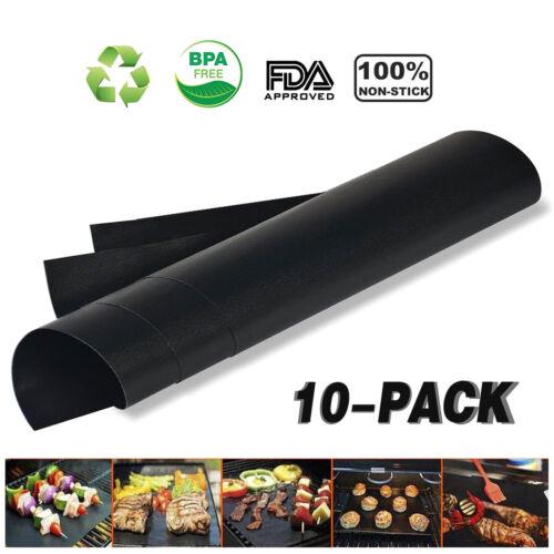 Set of 2//4//6//8//10//12pcs Non Stick BBQ Grill /& Baking Mats FDA-Approved AU