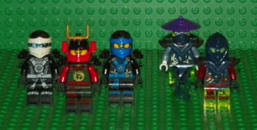 LEGO Ninjago Mini Figure Lot Zane, Jay, Nya, Ghoultar & Bansha 5 Mini Figs
