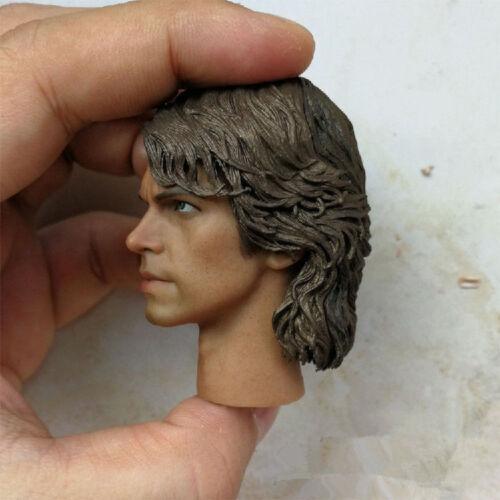 "1//6 Male Head Sculpt Carving Model Anakin Skywalker Toy Fit 12/"" Figure Action"