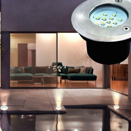 Robuste LED Außen Leuchte Garten Geh Weg Einbau Lampe Terrassen Boden Strahler