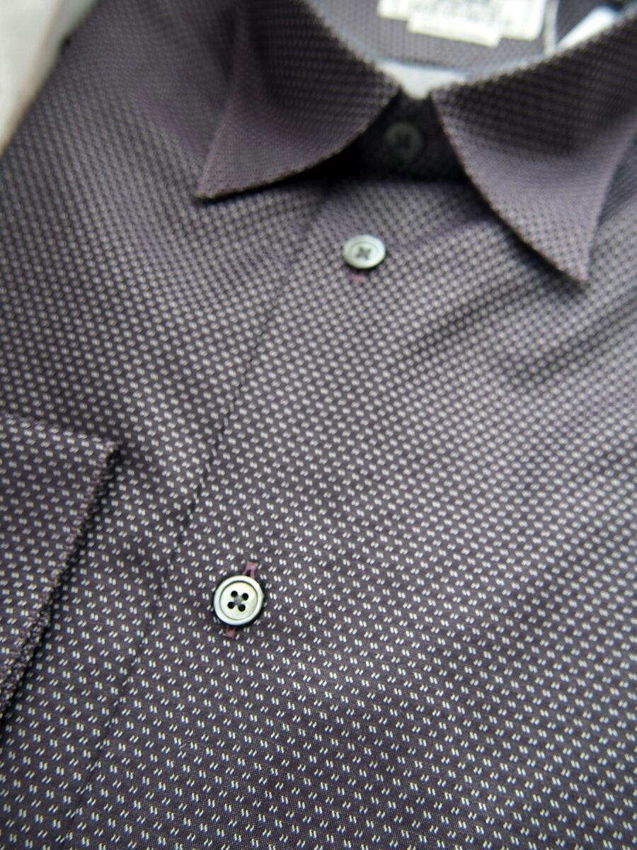 900 Smart NEW Hermes herren Dress hemd Micro H logo 15.5 39 Plum Jacquard