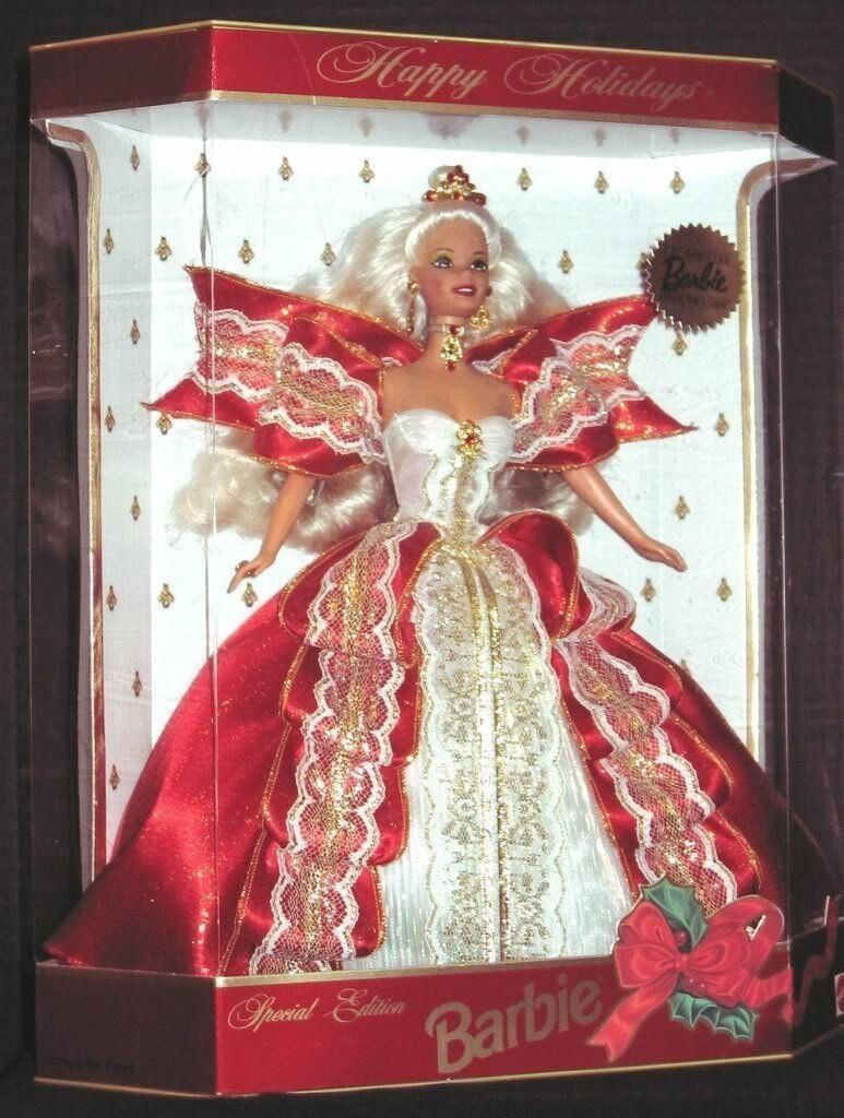 1997 felices fiestas Barbie Rubia (afiliación exclusivo)