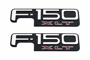 2004-2008 Ford F-150 XLT Chrome Right And Left Fender Emblem Decal Set OEM NEW