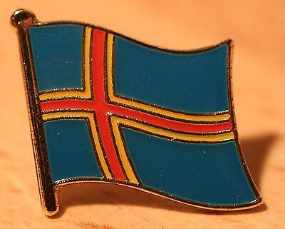 ÅLAND ALAND ISLANDS Finland Flag Country Metal Lapel Pin Badge