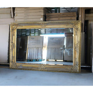 Wooden-Mirror-Large-Gold-Bevelled-wall-mirror-amp-Frame-Antique-204CM-X-139CM