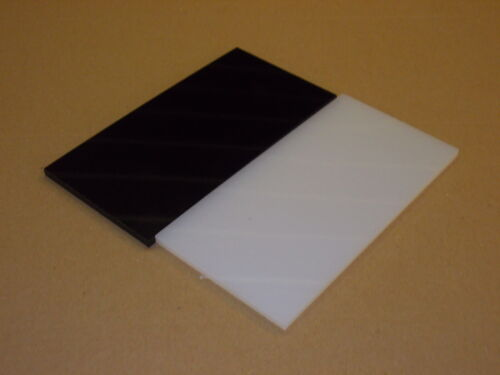 6 mm Nylon Extrudé feuille 100 mm x 100 mm Engineering Plaque-Usinage-Wear Strip