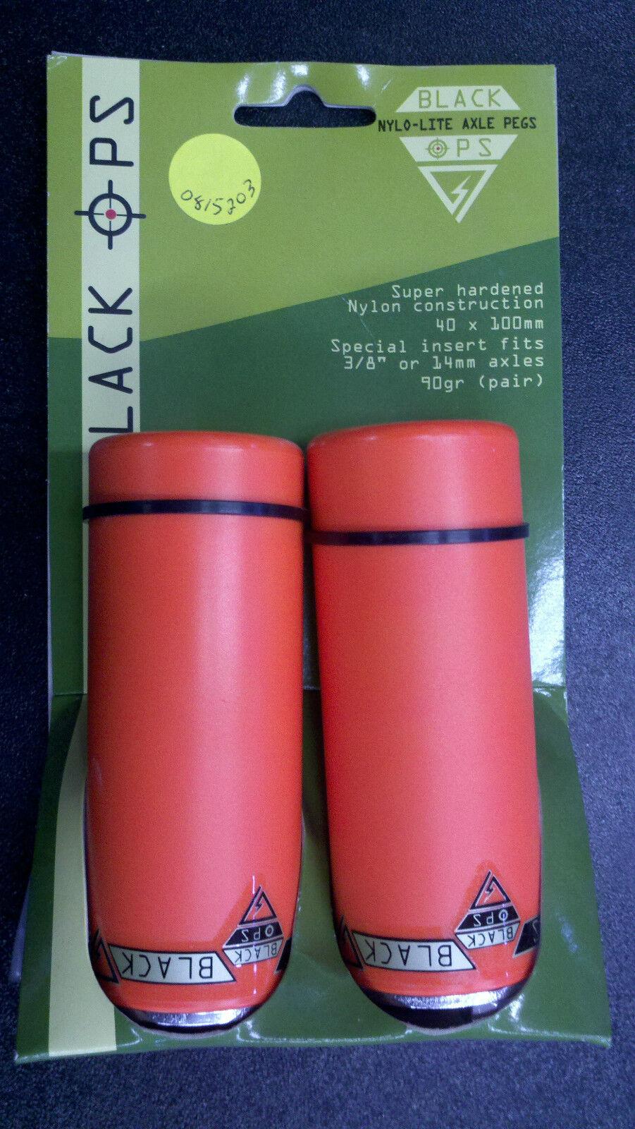 Black Ops BMX NyloLite Axle Pegs WHITE 3//8 or 14mm axle-super hard nylon