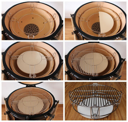"""YNNI Universal Divide and Conquer Cooking System 21/""""  Kamado Grill Egg TQDC21"""