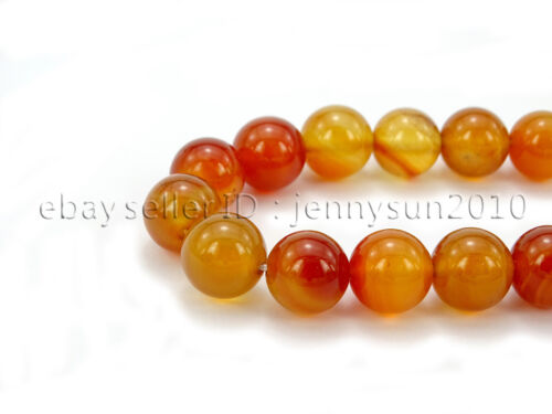 Red Carnelian Natural Agate Gemstone Round Beads 15.5/'/' 4mm 6mm 8mm 10mm 12mm
