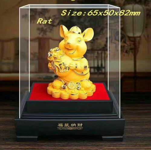 1 pcs China Zodiac Gold Plated Statues