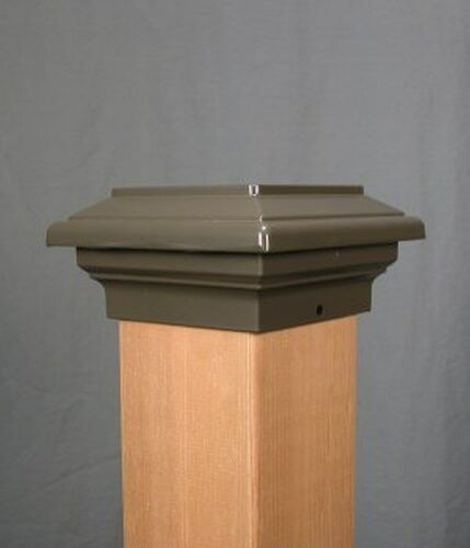 choose size /& color fence cap cast aluminum Aurora Titan Deck POST CAP