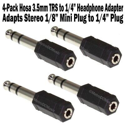 "2-Pack Pig Hog 3.5mm Female to 1//4/"" TRS Stereo Male Plug Adapter 1//8/"" Headphone"