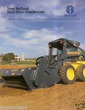 Equipment Brochure New Holland Skid Steer Attachments 2003 E2010