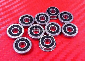 5pcs MF106-2RS (6x10x3 mm) Flanged Metal Rubber Sealed Ball Bearing MF106RS