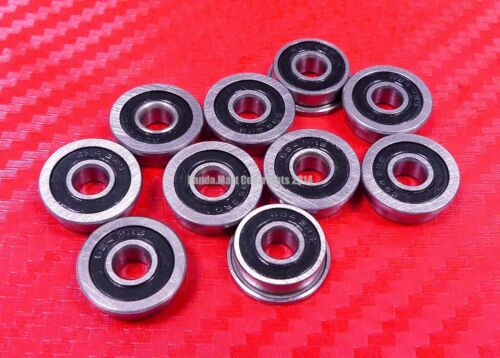 6x12x4 mm 5pcs MF126-2RS Flanged Metal Rubber Sealed Ball Bearing MF126RS