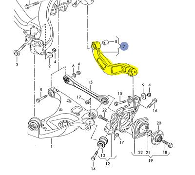 Suspension Control Arm-Moog Rear Left Upper fits 02-09 Audi A4 Quattro