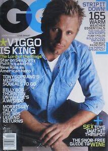 VIGGO MORTENSEN April 2004 GQ Magazine NEW SEALED BILLY BOB THORNTON / MORRISSEY