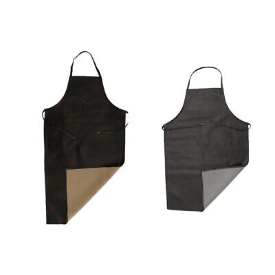 Leather Waterproof Apron Restaurant Kitchen Butcher Industrial Antifouling S