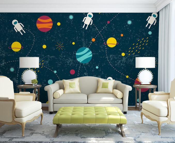3D Rakete, Raum 633 Fototapeten Wandbild Fototapete BildTapete Familie DE