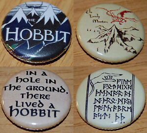 THE-HOBBIT-Button-Badge-25mm-1-inch-JRR-Tolkien-Lord-of-the-Rings