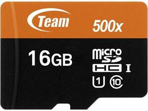 Team 16GB microSDHC UHS-I/U1 Class 10 Memory Card with Adapter, Speed Up to 80MB