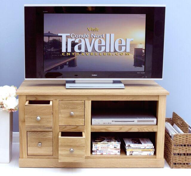 mobel television cabinet stand unit solid oak living room furniture