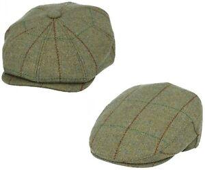 Homme Gladwin Bond Newsboy Hat 100% Laine Derby Tweed Baker Garçon Casquette Flat Cap