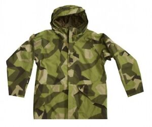 Swedish-Camouflage-M90-Ecwcs-Cold-Weather-Gen-I-Parka-Outdoor-Jacket-Size-Small
