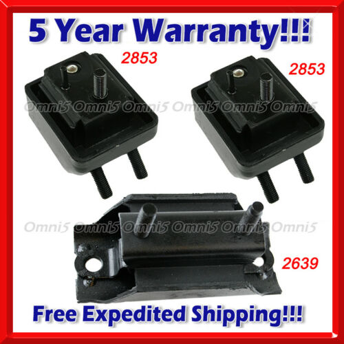 M523 Fits 1998-2001 Ford Ranger 2.5L Engine Motor /& Transmission Mount Set 3pcs