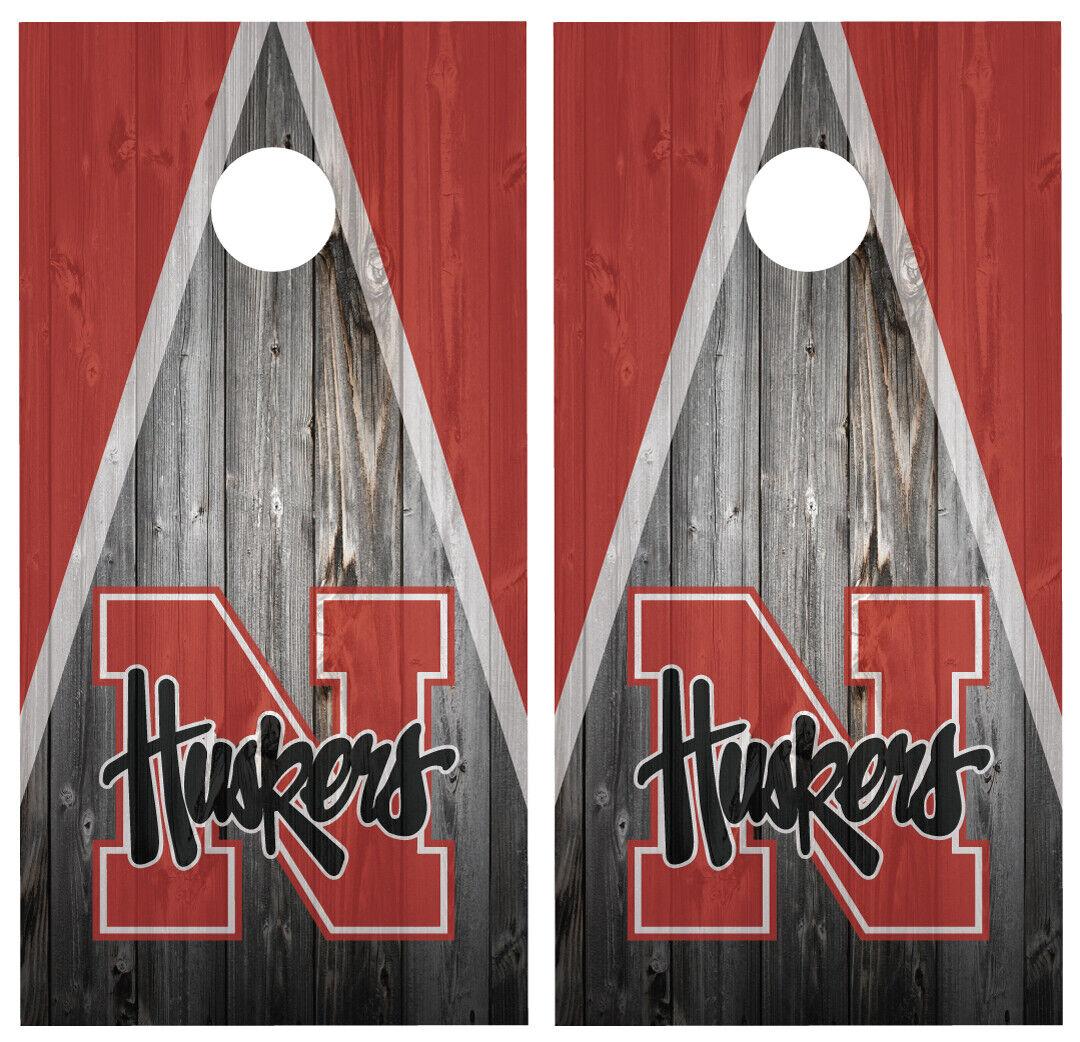 Nebraska Huskers Cornhole Board Wraps Skins Vinyl  Laminated HIGH QUALITY   authentic quality