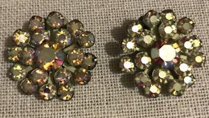 Vintage  Gorgeous Rhinestone Clip Earrings