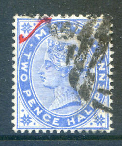 Malta-1885-2-d-blue-with-red-tick-top-left-corner-fine-used-2019-05-29-05