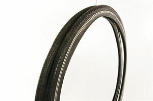 PAIR-2-WHEEL-CHAIR-TYRES-24x1-3-8-BLACK-WITH-WHITE-LINE-ALSO-SUIT-VINTAGE-BIKE