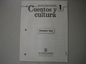 Holt Spanish 1 Cuentos y cultura Beginning Reader Answer ...