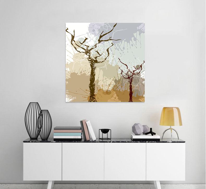 3D Zwei schwarze Bäume 78 Fototapeten Wandbild BildTapete Familie AJSTORE DE