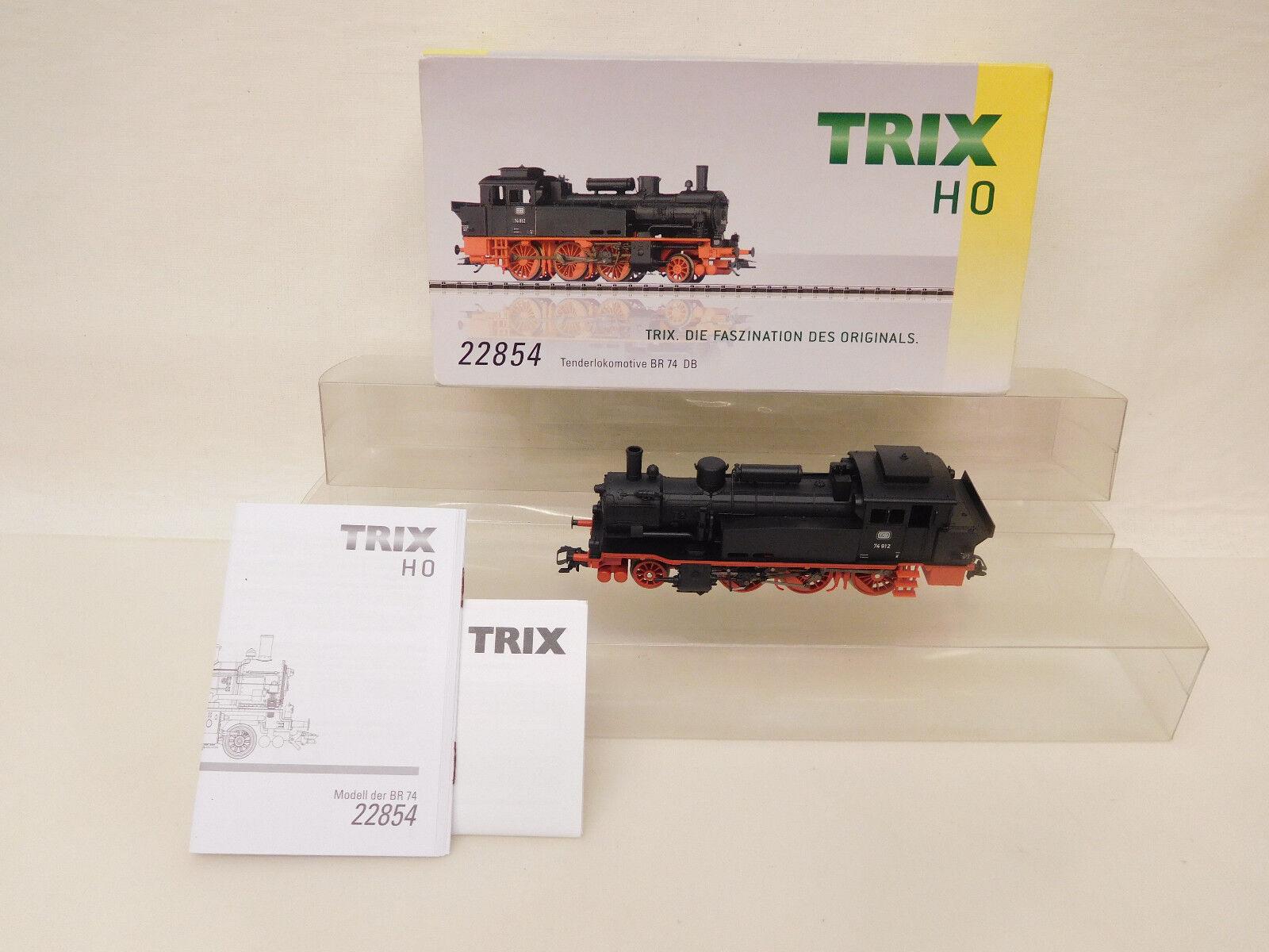 ESF -04543 Trix 22854 H0 Dampflok DB 74912, Funktion getest, sehr guter Zustå