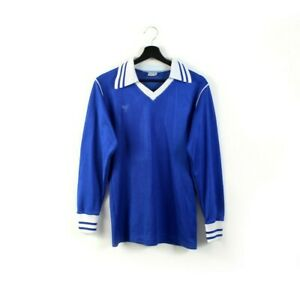 70s ERIMA vintage soccer jersey shirt football blue white West Germany 80s S M