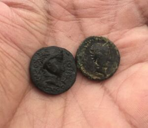 Kushan Empire: Kujula Kadphises. Circa Ad 50-90 Ae Lot De 2 Pièces-afficher Le Titre D'origine Jbrmsump-08001233-320704981