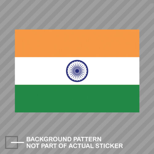 Indian Flag Sticker Decal Vinyl India IND IN